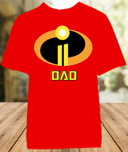 Disney World Family Vacation Incredibles 2 Personalized Dad Daddy Father Color Shirt - All Sizes - DIDCS1