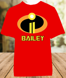 Disney World Family Vacation Incredibles 2 Personalized Color T Shirt - All Sizes - DICS1