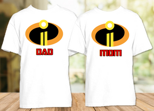 Disney World Family Vacation Incredibles 2 Personalized T Shirt or Onesie - 2 Pack - DI2P