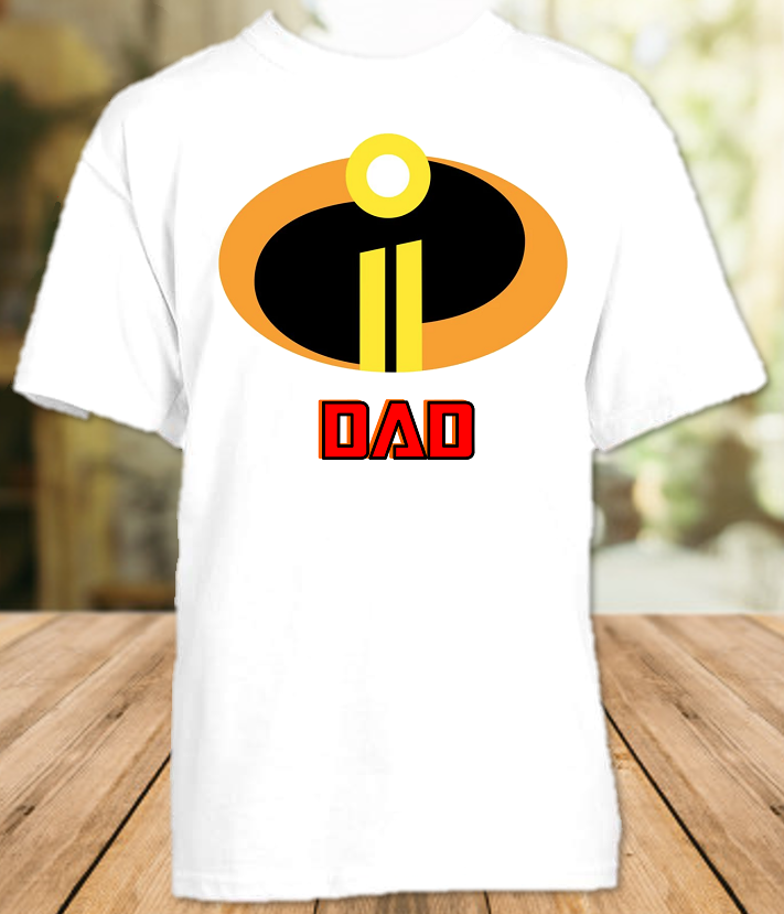 Disney World Family Vacation Incredibles 2 Personalized Dad Daddy Father T Shirt - All Sizes - DIDS1