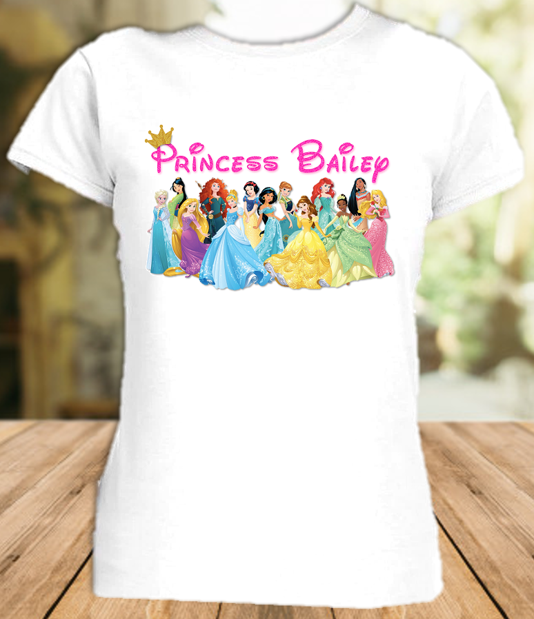 Disney Princesses Party Vacation Personalized T Shirt or Onesie - All Sizes - DPPS1