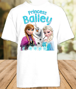 Frozen Elsa and Anna Party Personalized T Shirt or Onesie - All Sizes - FPS1