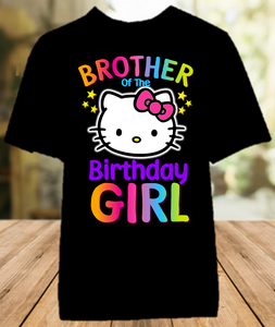 Hello Kitty Birthday Party Personalized Sibling Brother Color T Shirt - All Sizes - HKBCS1