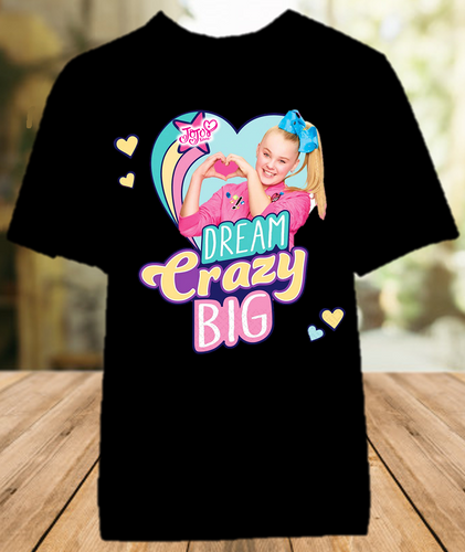 Jojo Siwa Dream Crazy Big Color T Shirt - All Sizes Available - JDBCS1