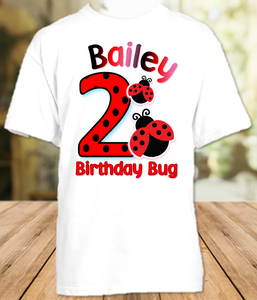 Ladybug Birthday Party Personalized T Shirt or Onesie - All Sizes - LS1