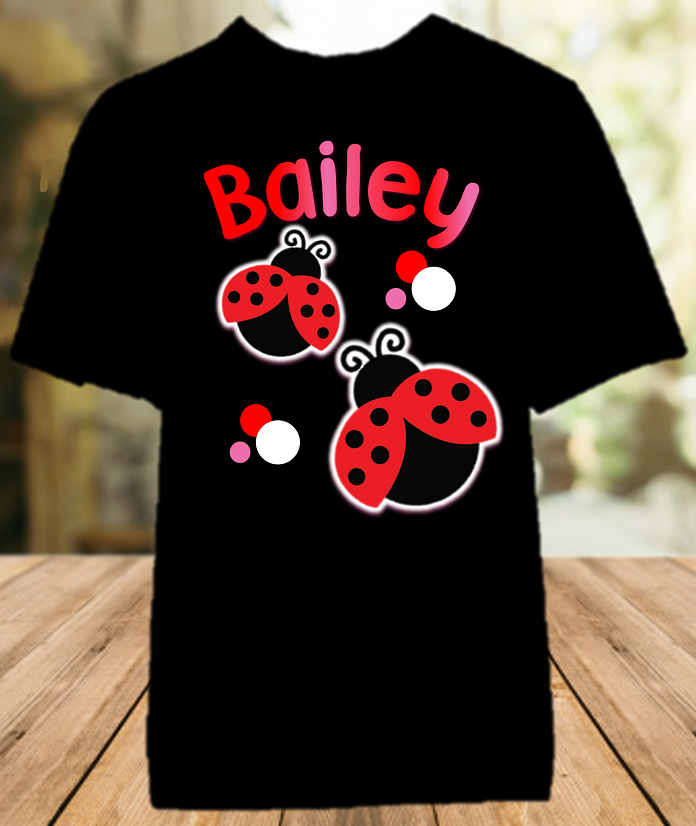 Ladybug Party Personalized Color T Shirt - All Sizes - LPCS1