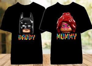 Legoland Lego Movie Faces Family Vacation Personalized Color T Shirt - 2 Pack - LVC2P