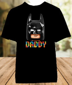Legoland Lego Movie Batman Face Family Vacation Personalized Color T Shirt - All Sizes - LVBMFCS1