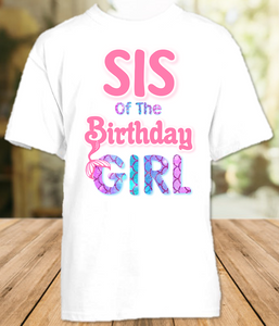 Mermaid Birthday Party Personalized Sibling Sister T Shirt or Onesie - All Sizes - MSIS1