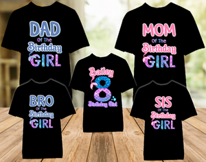 Mermaid Birthday Party Personalized Color T Shirt - 5 Pack - MEC5P