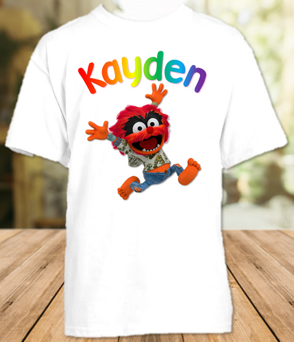 Muppet Babies Animal Party Personalized T Shirt or Onesie - All Sizes - MUBAPS1