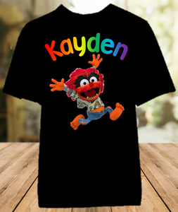 Muppet Babies Animal Party Personalized Color T Shirt - All Sizes - MUBAPCS1