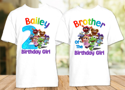 Muppet Babies Birthday Party Personalized T Shirt or Onesie - 2 Pack - MUB2P