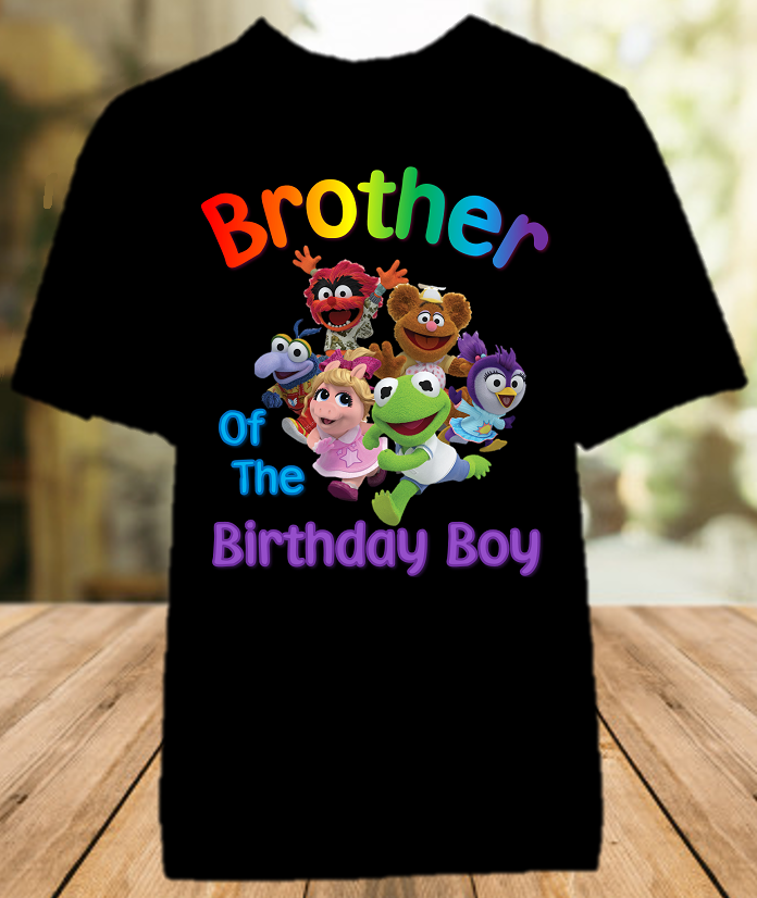 Muppet Babies Birthday Party Personalized Sibling Brother Color T Shirt - All Sizes - MUBBCS1