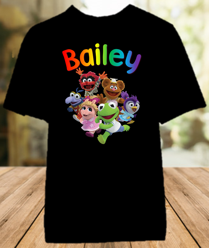 Muppet Babies Party Personalized Color T Shirt - All Sizes - MUBPCS1