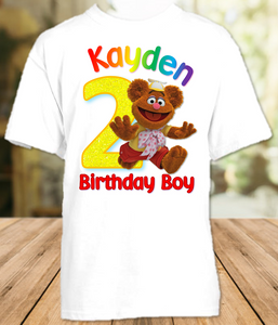 Muppet Babies Fozzie Bear Birthday Party Personalized T Shirt or Onesie - All Sizes - MUBFS1
