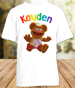 Muppet Babies Fozzie Bear Party Personalized T Shirt or Onesie - All Sizes - MUBFPS1