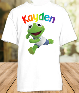 Muppet Babies Kermit Frog Party Personalized T Shirt or Onesie - All Sizes - MUBKPS1