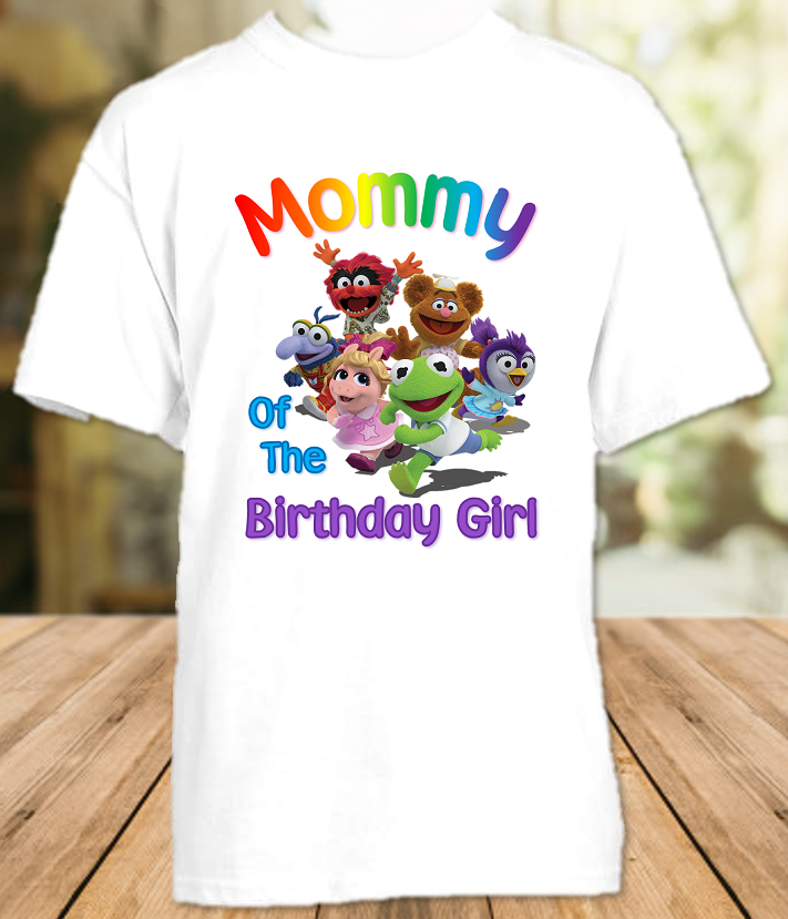Muppet Babies Birthday Party Personalized Mom Mommy Mother T Shirt - All Sizes - MUBMS1