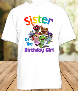 Muppet Babies Birthday Party Personalized Sibling Sister T Shirt or Onesie - All Sizes - MUBSIS1