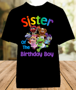 Muppet Babies Birthday Party Personalized Sibling Sister Color T Shirt - All Sizes - MUBSICS1