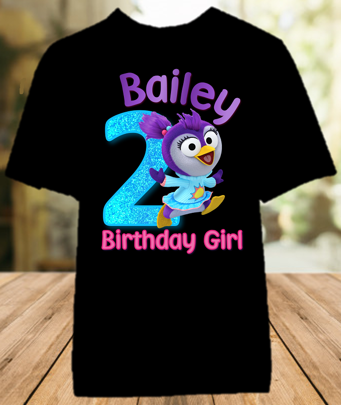 Muppet Babies Summer Penguin Birthday Party Personalized Color T Shirt - All Sizes - MUBSCS1