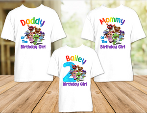 Muppet Babies Birthday Party Personalized T Shirt or Onesie - 3 Pack - MUB3P