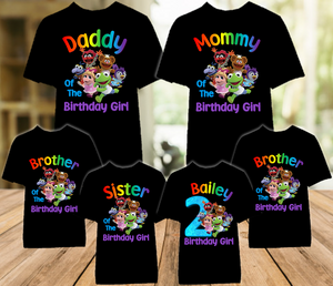 Muppet Babies Birthday Party Personalized Color T Shirt - 6 Pack - MUBC6P