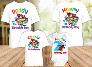 Muppet Babies Gonzo Birthday Party Personalized T Shirt or Onesie - 4 Pack - MUBG4P