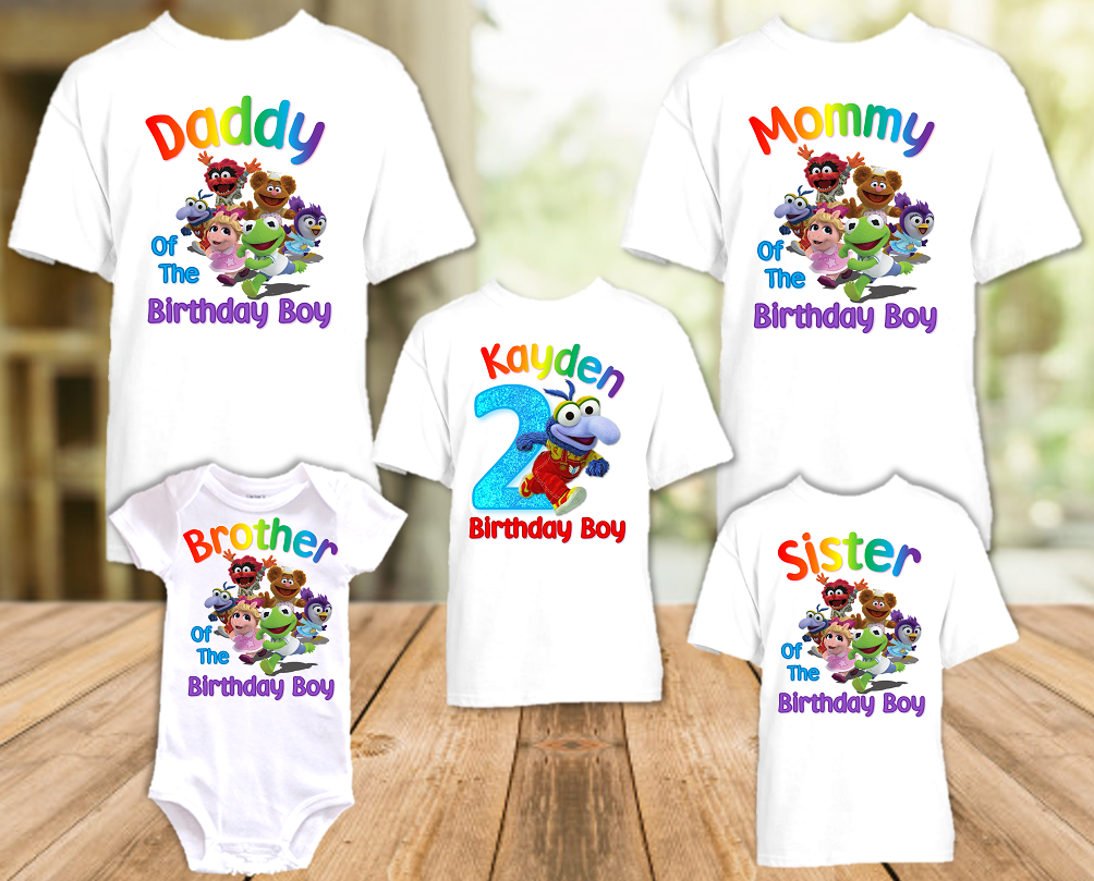 Muppet Babies Gonzo Birthday Party Personalized T Shirt or Onesie - 5 Pack - MUBG5P