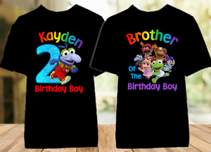 Muppet Babies Gonzo Birthday Party Personalized Color T Shirt - 2 Pack - MUBGC2P