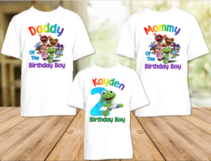 Muppet Babies Kermit Frog Birthday Party Personalized T Shirt or Onesie - 3 Pack - MUBK3P