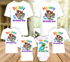 Muppet Babies Kermit Frog Birthday Party Personalized T Shirt or Onesie - 6 Pack - MUBK6P