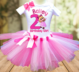 Muppet Babies Miss Piggy Birthday Party Personalized Tutu Outfit - All Sizes - MUBPTO02