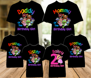 Muppet Babies Miss Piggy Birthday Party Personalized Color T Shirt - 6 Pack - MUBPC6P
