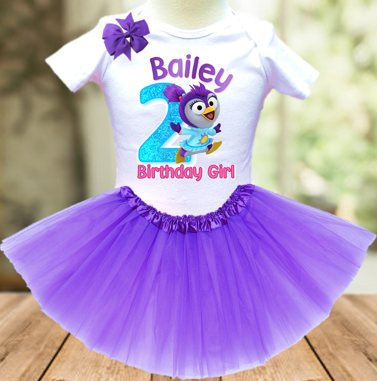 Muppet Babies Summer Penguin Birthday Party Personalized Layer Tutu Outfit - All Sizes - MUBTO03A