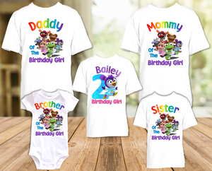 Muppet Babies Summer Penguin Birthday Party Personalized T Shirt or Onesie - 5 Pack - MUBS5P