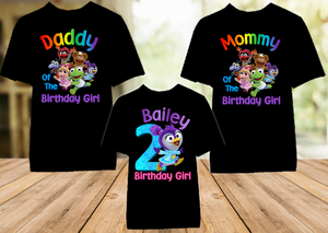 Muppet Babies Summer Penguin Birthday Party Personalized Color T Shirt - 3 Pack - MUBSC3P