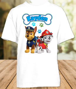 Paw Patrol Chase and Marshall Party Personalized T Shirt or Onesie - All Sizes - PPCMPS1
