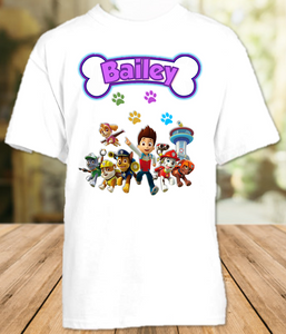 Paw Patrol Party Personalized T Shirt or Onesie - All Sizes - PPPS1