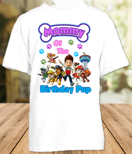 Paw Patrol Birthday Party Personalized Mom Mommy Mother T Shirt - All Sizes - PPMS1