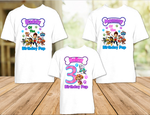 Paw Patrol Everest and Skye Birthday Party Personalized T Shirt or Onesie - 3 Pack - PPES3P