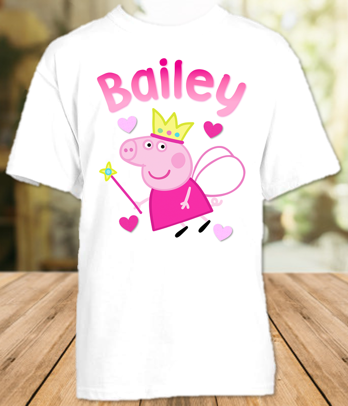 Peppa Pig Fairy Princess Party Personalized T Shirt or Onesie - All Sizes - PPGFPS1