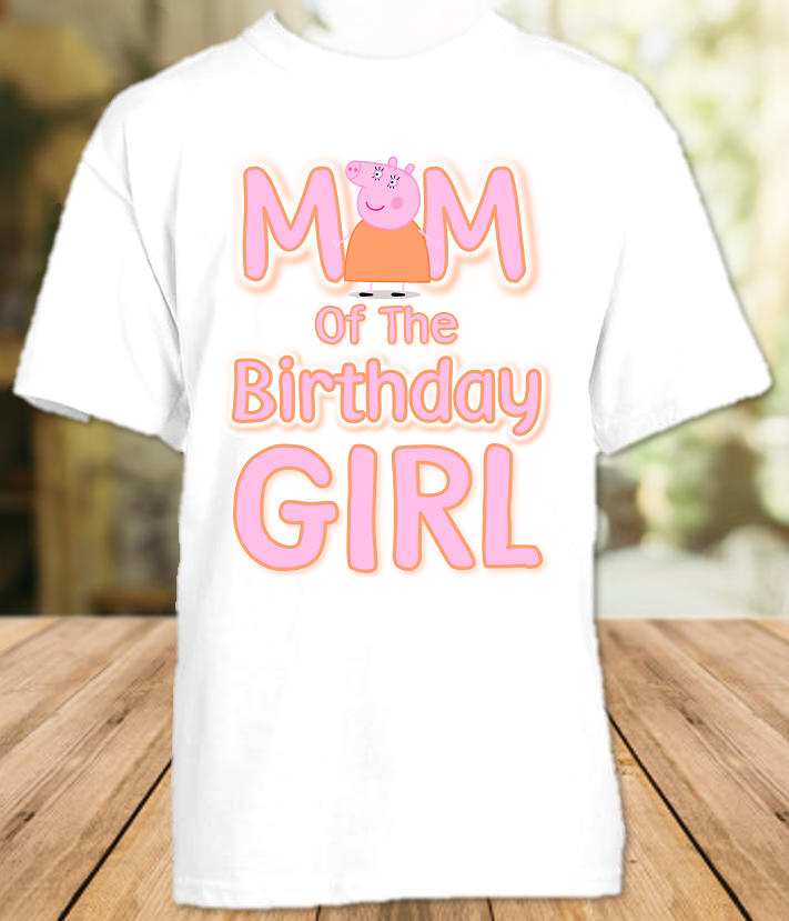 Peppa Pig Birthday Party Personalized Mom Mommy Mother T Shirt - All Sizes - PPGMS1