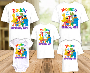 Sesame Street Birthday Party Personalized T Shirt or Onesie - 5 Pack - SS5P