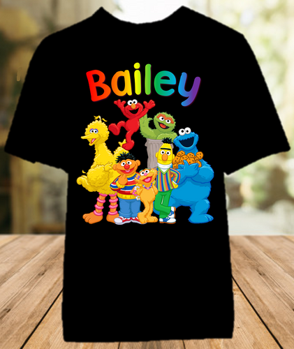 Sesame Street Party Personalized Color T Shirt - All Sizes - SSPCS1
