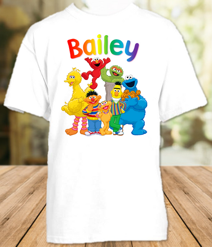 Sesame Street Party Personalized T Shirt or Onesie - All Sizes - SSPS1