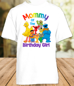 Sesame Street Birthday Party Personalized Mom Mommy Mother T Shirt - All Sizes - SSMS1