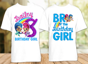 Shimmer and Shine Birthday Party Personalized T Shirt or Onesie - 2 Pack - SG2P