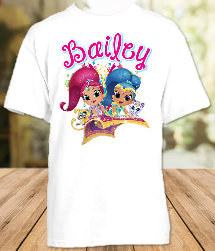 Shimmer and Shine Party Personalized T Shirt or Onesie - All Sizes - SGPS1